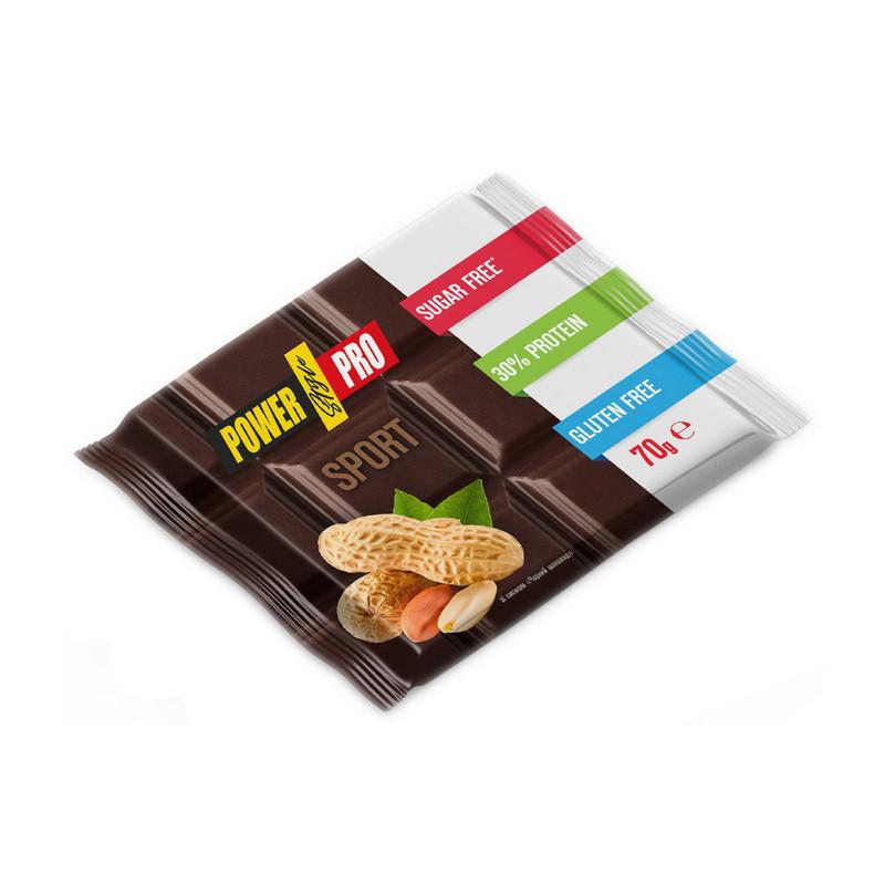 Протеиновая шоколадка Power Pro (70 г) павер про чорний шоколад