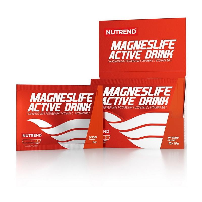 Магнийс Nutrend Magnes Life Active Drink (10*15 г) нутренд orange