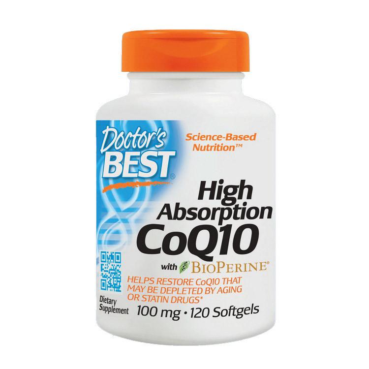 Коэнзим Q10 Doctor's Best CoQ10 100 mg High Absorption (120 капс) доктор бест
