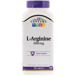 Л-Аргинин 21st Century L-Arginine 1000 mg (100 таблеток) 21 век центури