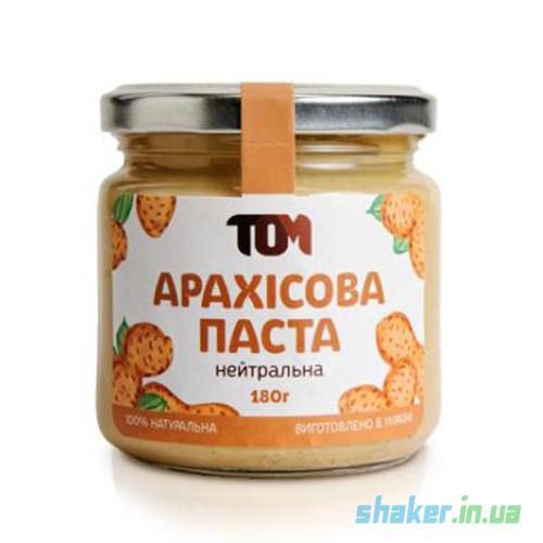 Натуральная арахисовая паста ТОМ (180 г) кранч з шоколадом