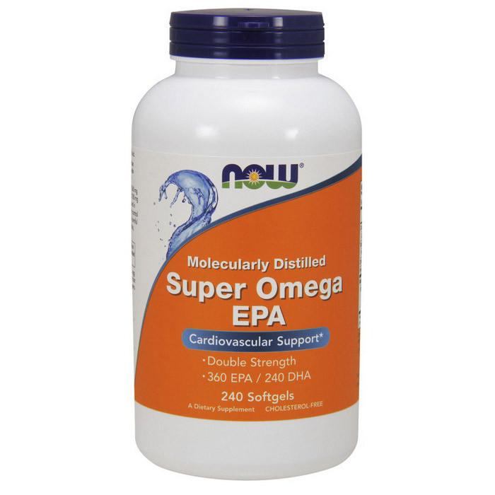 Омега 3 Now Foods Super Omega EPA (240 капс) рыбий жир нау фудс