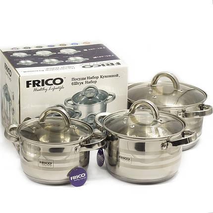 Посуда FRICO (6 предметов, нержавеющая сталь, стекло), арт. FRU 681, фото 2