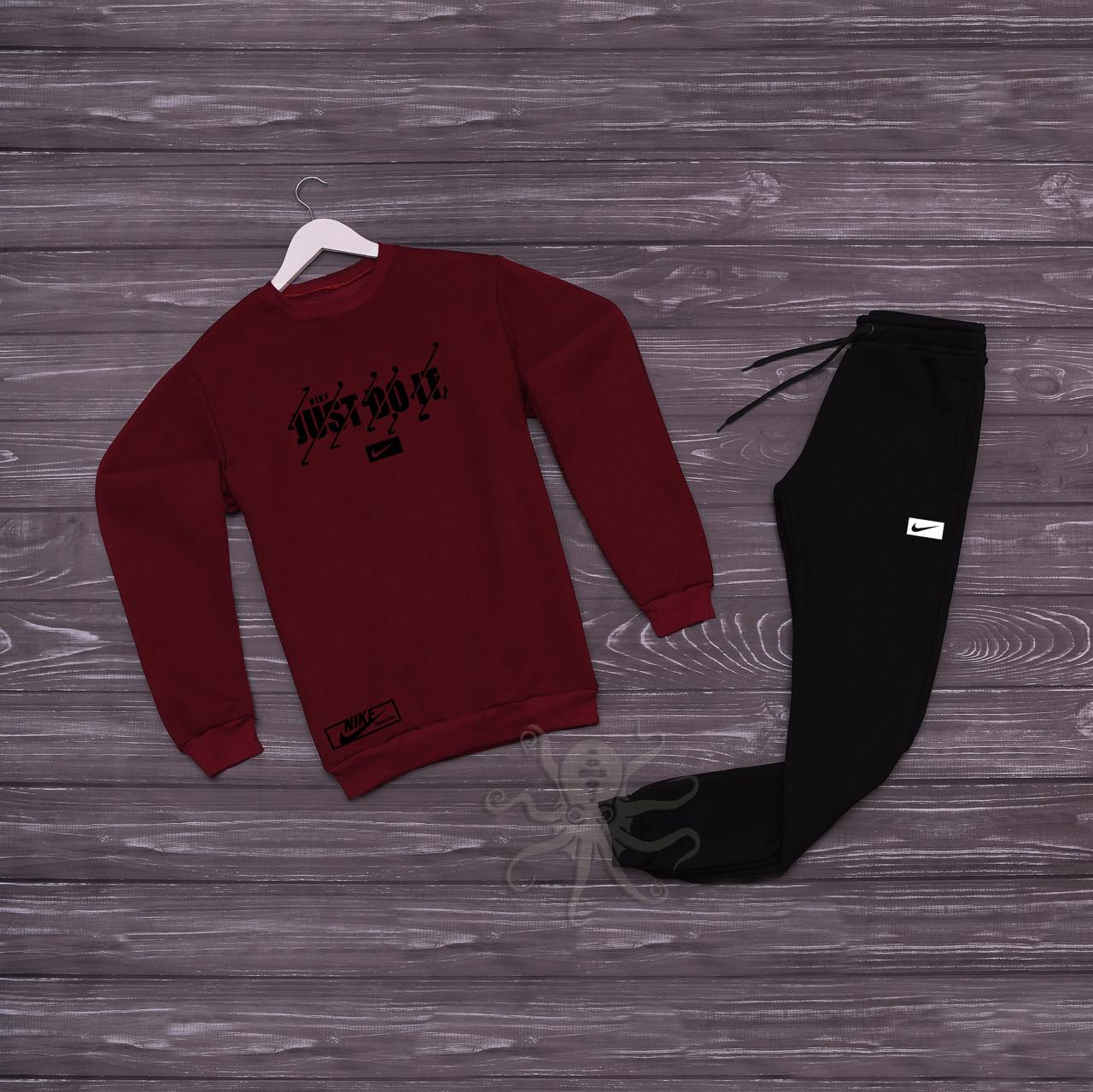 Спортивний костюм реглан червона кофта і чорні штани