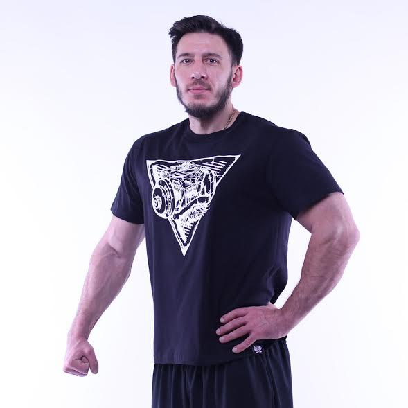 Фирменная футболка SportFaza Black спорт фаза