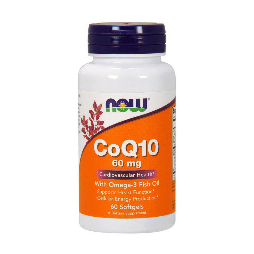 Коэнзим Q10 Now Foods CoQ10 60 mg with Omega-3 (60 капс) нау фудс