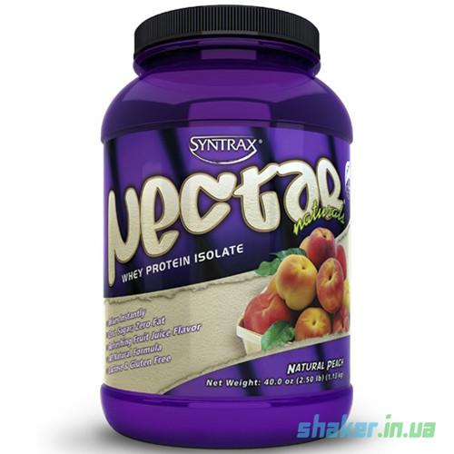 Сывороточный протеин изолят Syntrax Nectar Natural (1,13 кг)  синтракс нектар  natural peach