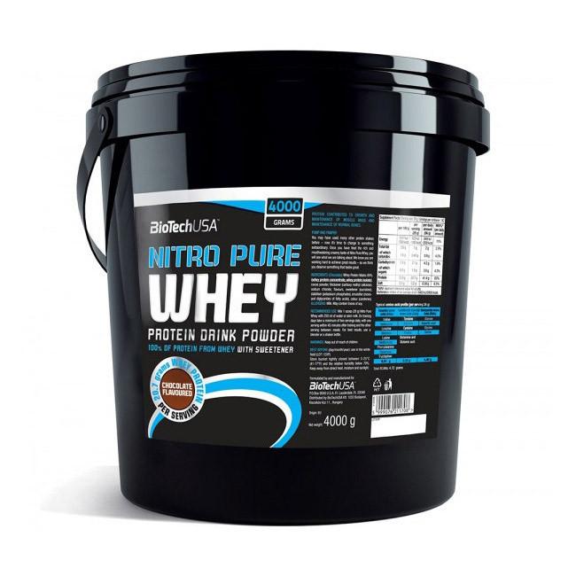 Сывороточный протеин концентрат BioTech Nitro Pure Whey (4 кг) биотеч нитро пур вей chocolate