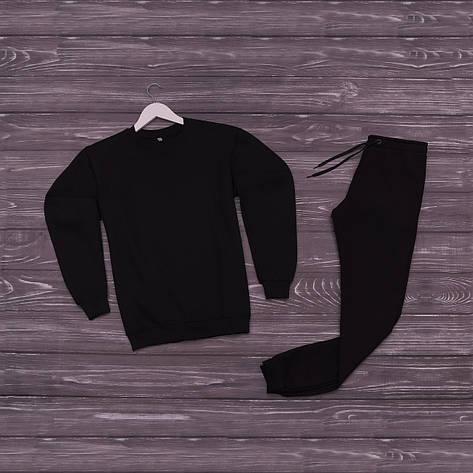 Спортивний костюм реглан черный, фото 2