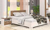 Кровать с тумбами Мебель Сервис Маркос 160х200 андерсен + дуб април с ламелями, КОД: 2350082
