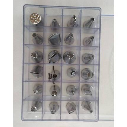 Кондитерские насадки (нержавеющая сталь, 24 шт/уп.), арт. 7-7, фото 2