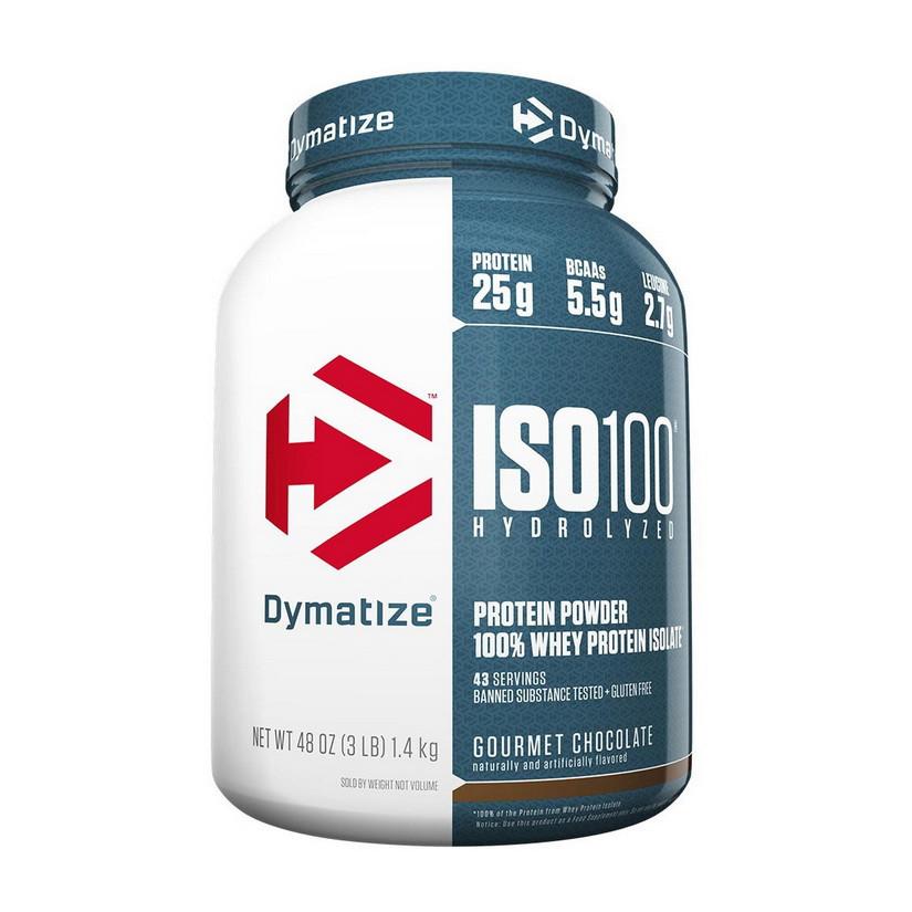 Сывороточный протеин изолят Dymatize ISO 100 (1,4 кг)  диматайз исо fudge brownie