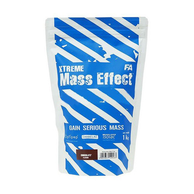 Гейнер для набора массы Fitness Authority Xtreme Mass Effect (1 кг) chocolate with hazelnut