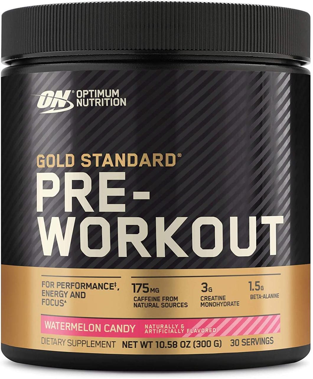 Предтреник Optimum Nutrition Pre-Workout gold standard (300 г) оптимумт нутришн watermelon