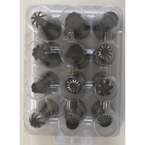 Набор кондитерских насадок (нержавеющая сталь, 12 шт/уп.) арт. 840-2259
