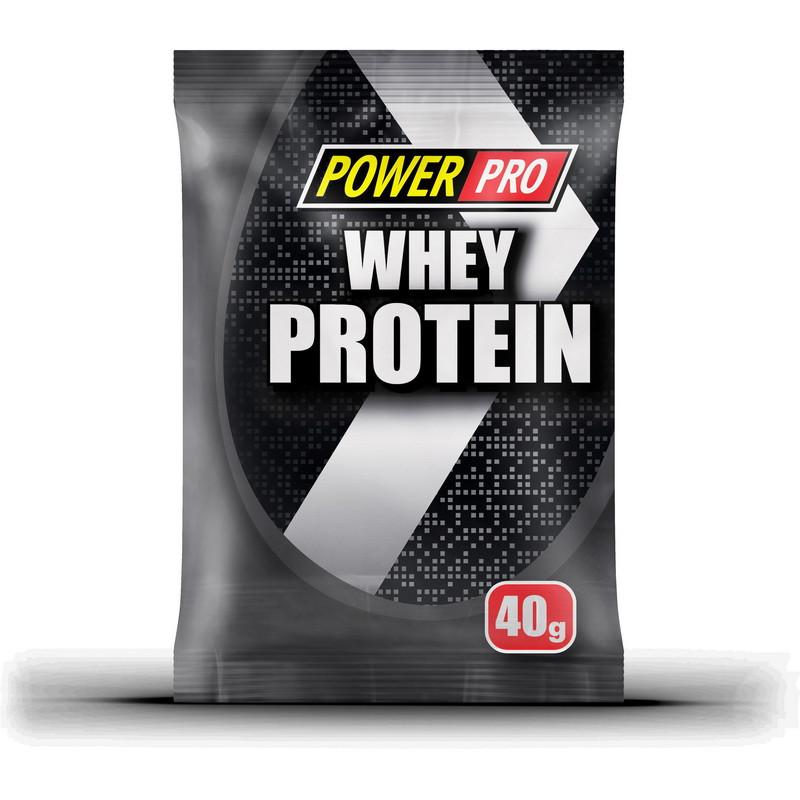 Сывороточный протеин концентрат  Power Pro Whey Protein  (40 г) павер про вей вишня в шоколаде