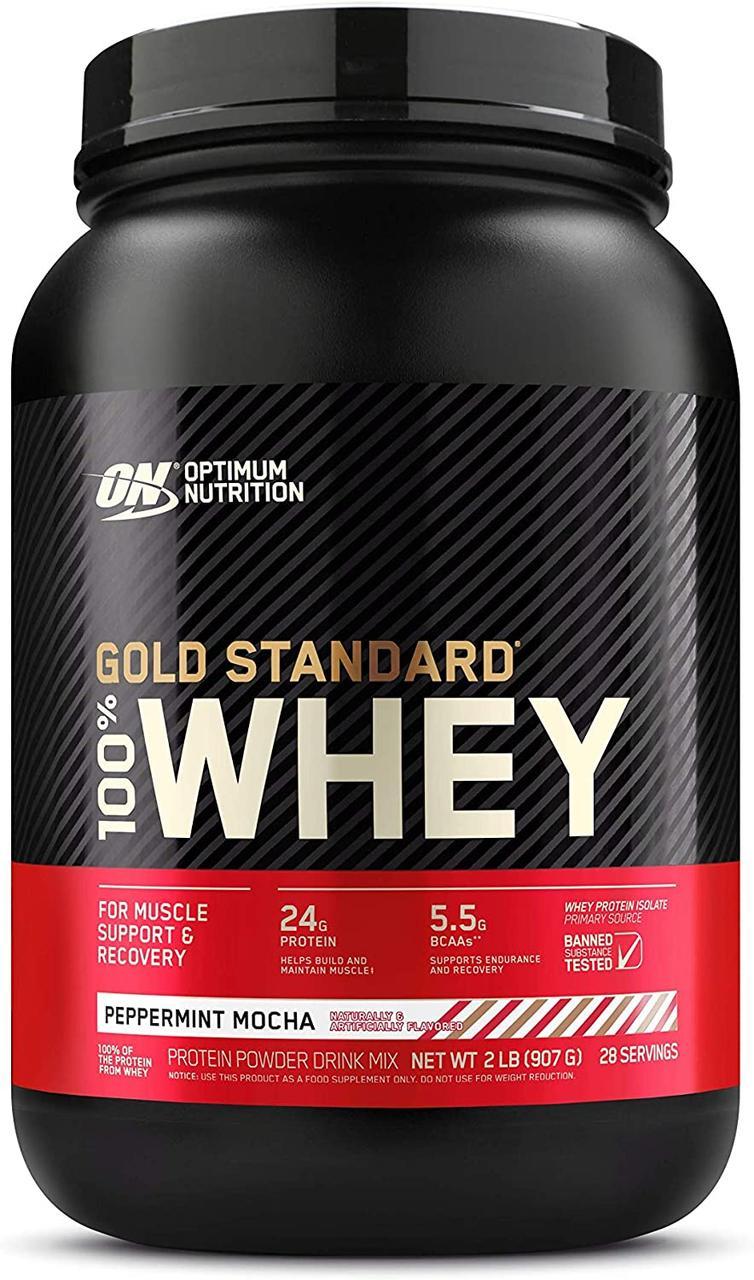 Сывороточный протеин изолят Optimum Nutrition 100% Whey Gold Standard (0,9 кг) оптимум вей голд стандарт