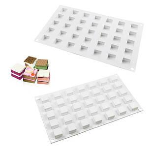 """Силиконовая форма для евроторта """"Micro square"""" арт. 860-1089921, фото 2"""