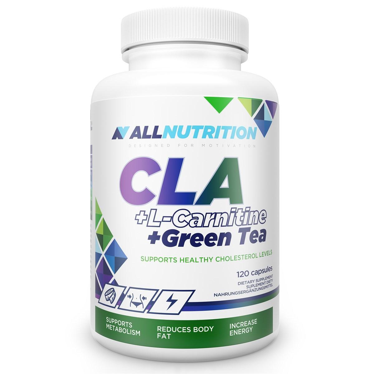 Л-карнитин AllNutrition CLA + L-Carnitine + Green Tea - 120cap алл нутришн