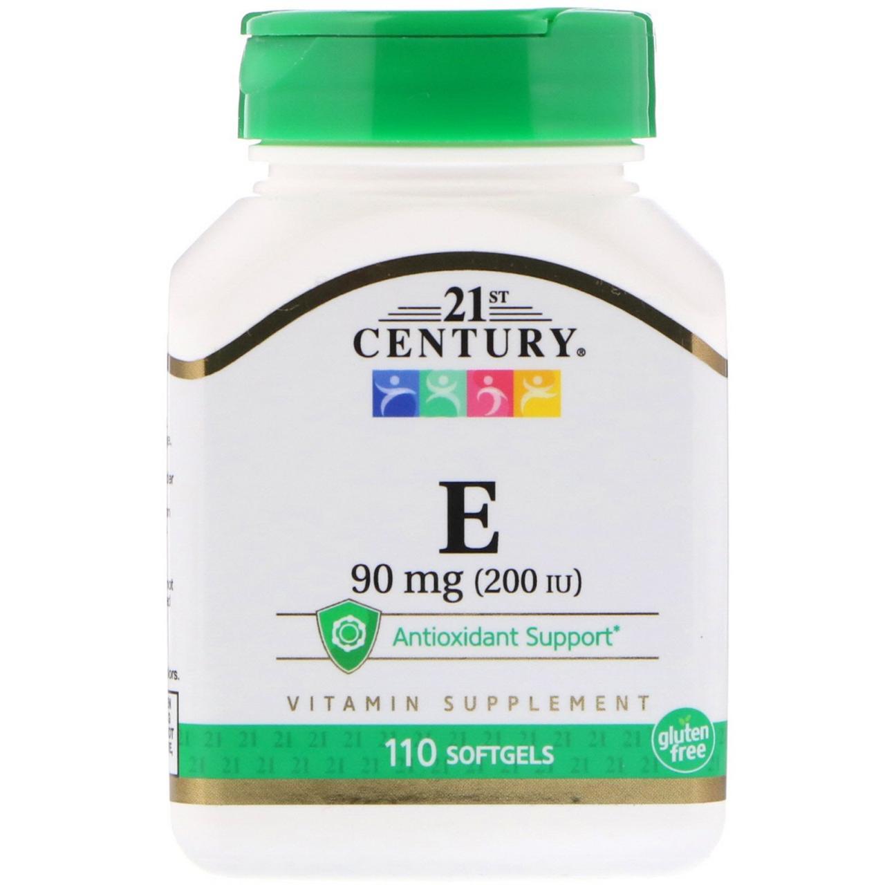 Витамин Е 21st Century Vitamin E 90 mg (200 IU) 21 век