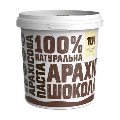 Натуральная арахисовая паста TOM (500 г) з чорним шоколадом