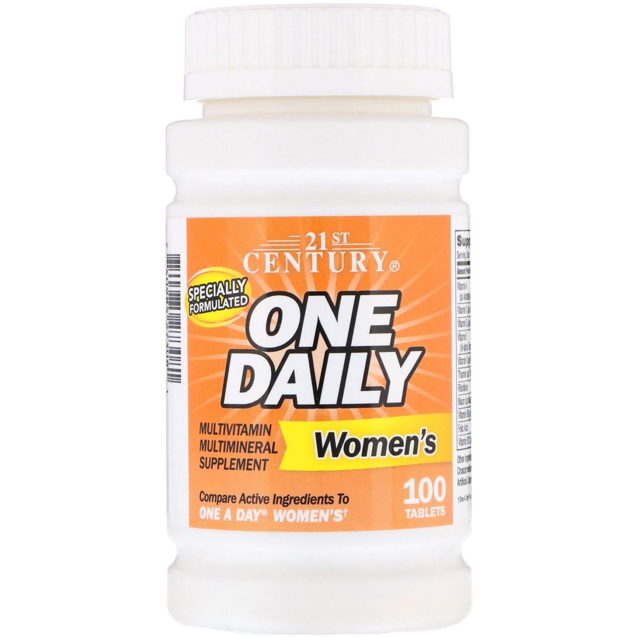 Витамины для женщин 21st Century One Daily Multivitamin for Women`s 50+ (100 таб) 21 век центури