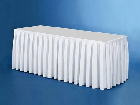 Фуршетна Спідниця з Липучкою для столу Бантовими складка Висота 72..75см, фото 2