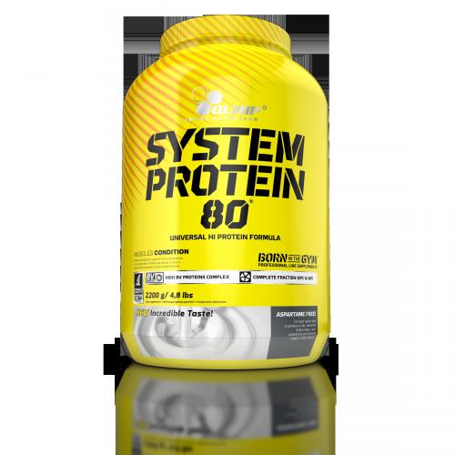 Комплексний протеїн OLIMP System Protein 80 (2,2 кг) олімп систем полуниця