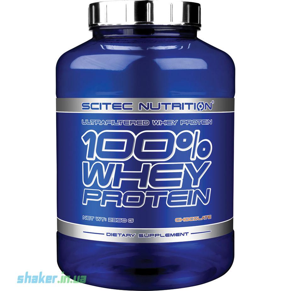 Сывороточный протеин концентрат Scitec Nutrition 100% Whey Protein (2,35 кг) скайтек вей apple cinnamon