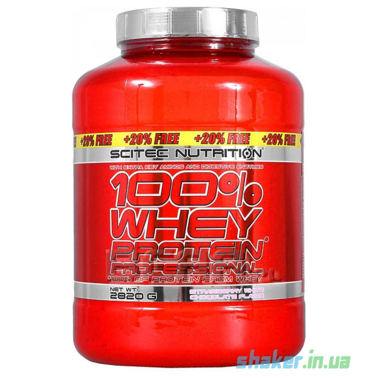 Сывороточный протеин концентрат Scitec Nutrition Whey Protein Professional +20% FREE (2,82 кг) скайтек вей
