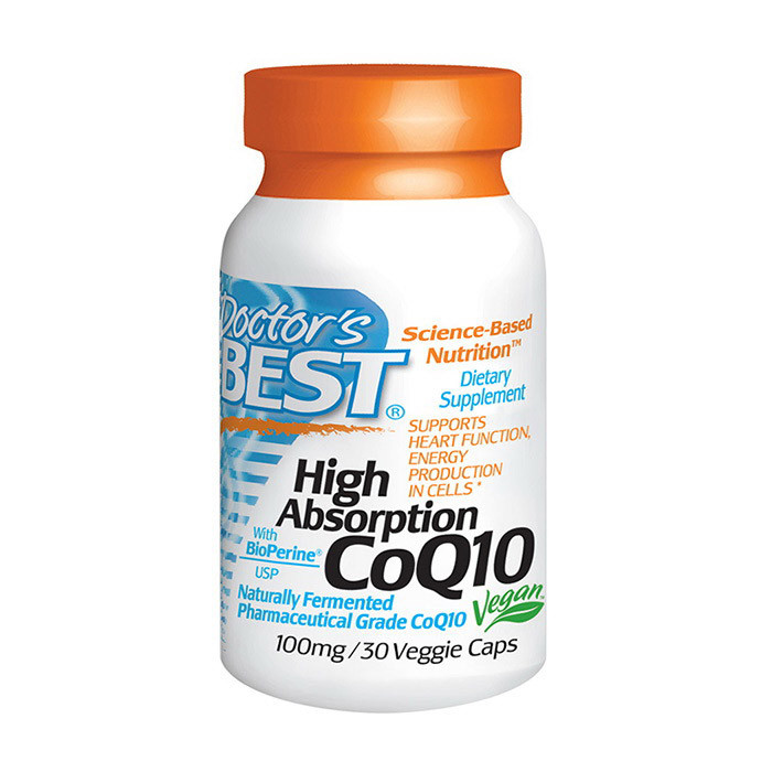 Коэнзим Q10 Doctor's Best High Absorption CoQ10 100 mg (30 капс) доктор бест