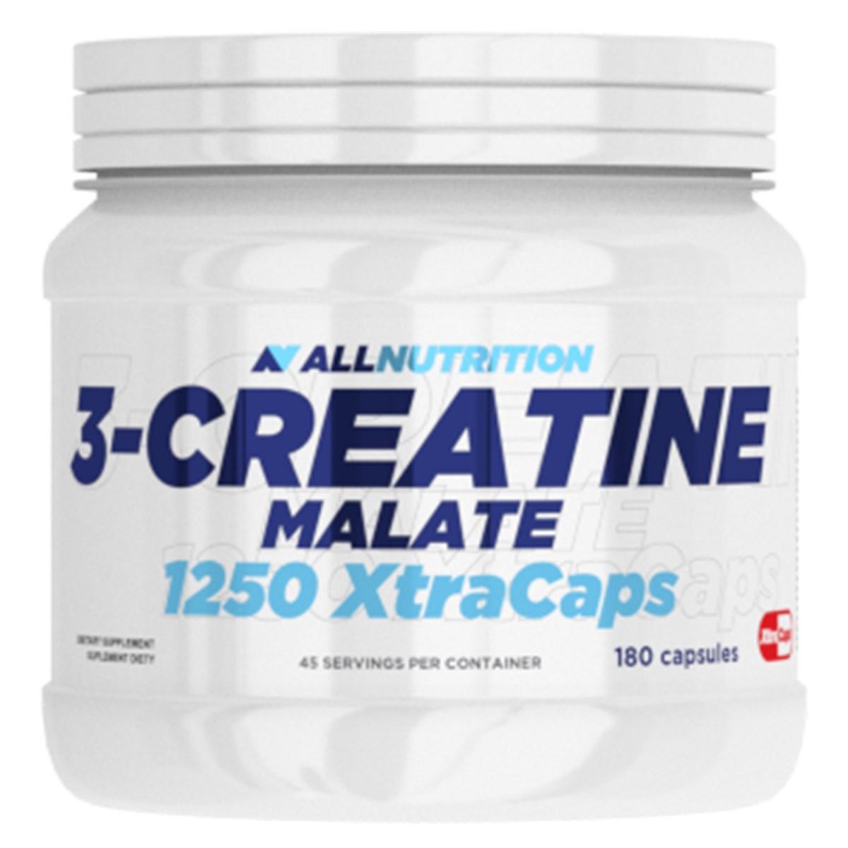 Три креатин малат AllNutrition 3-Creatine Malate 1250 Xtra Caps - 180 caps алл нутришн