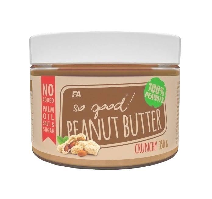 Натуральная арахисовая паста Fitness Authority Peanut Butter (350 г) Crunchy