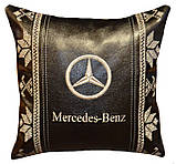 Подушка сувенирная в машинус логотипом Mercedes мерседес, фото 3