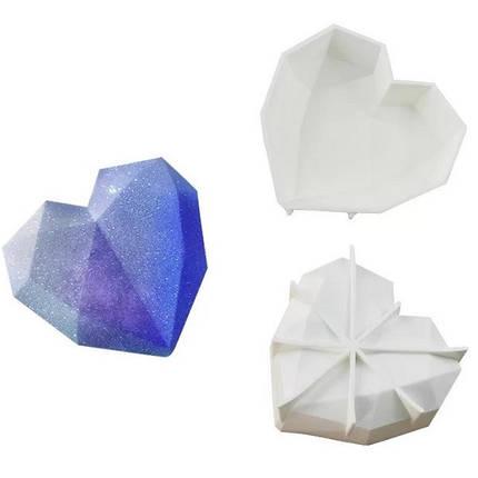 """Силиконовая форма для евроторта """"Сердце-Оригами"""" арт. 850-5A18022, фото 2"""
