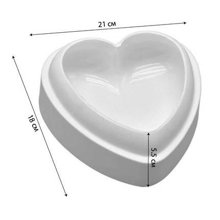 """Силиконовая форма для евроторта """"Сердце"""" арт. 860-29984, фото 2"""
