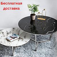 Журнальный стеклянный круглый столик Гордон 21
