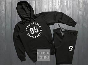 Мужской спортивный костюм Reebok, Рибок, черный (в стиле)