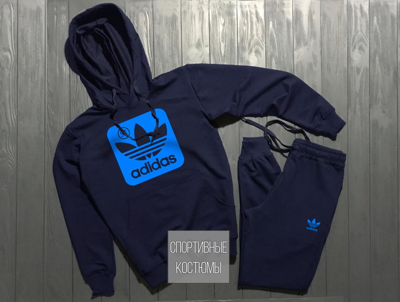 Чоловічий спортивний костюм Adidas, Адідас, темно-синій (в стилі)