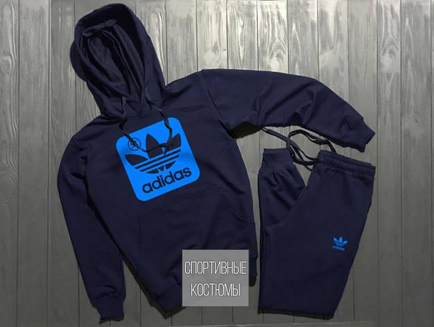 Чоловічий спортивний костюм Adidas, Адідас, темно-синій (в стилі), фото 2