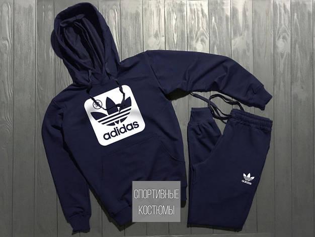 Мужской спортивный костюм Adidas, Адидас, темно-синий (в стиле), фото 2