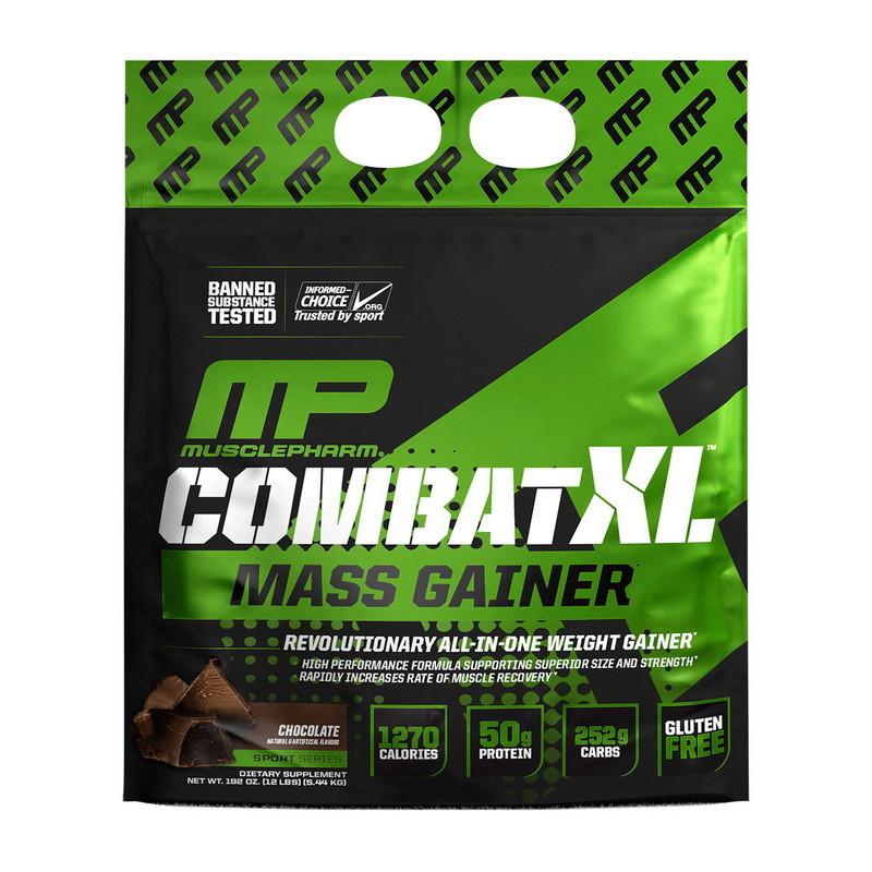 Гейнер для набора массы Muscle Pharm Combat XL Mass Gainer (5,44 кг) мускул фарм комбат vanilla