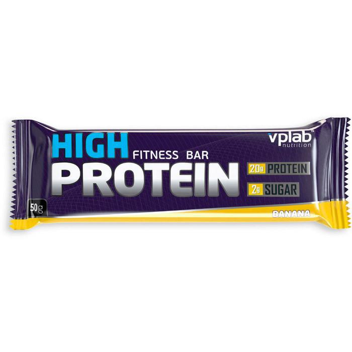 Протеиновый батончик VP Lab Hi Protein Fitness Bar (50 г) вп лаб banana