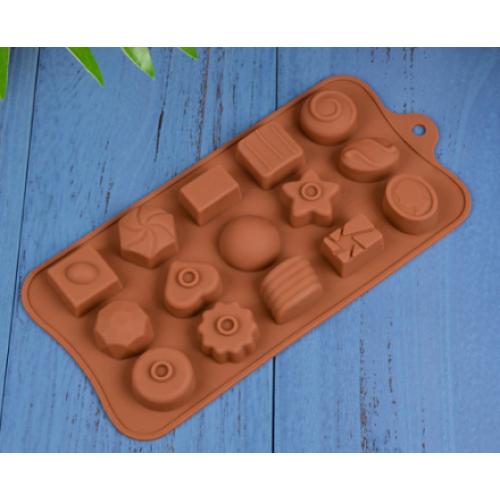 """Силиконовая форма для конфет """"Ассорти"""" JSC-2776 арт. 822-9-20"""