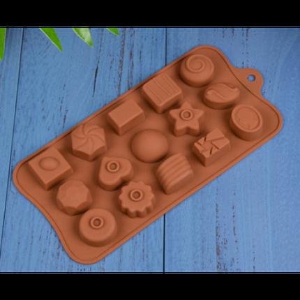 """Силиконовая форма для конфет """"Ассорти"""" JSC-2776 арт. 822-9-20, фото 2"""