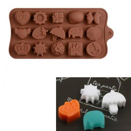 """Силиконовая форма для конфет """"Ассорти"""" JSC-2778 арт. 822-9-19, фото 2"""
