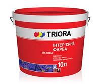 Краска интерьерная ультрабелая TRIORA, 10 л
