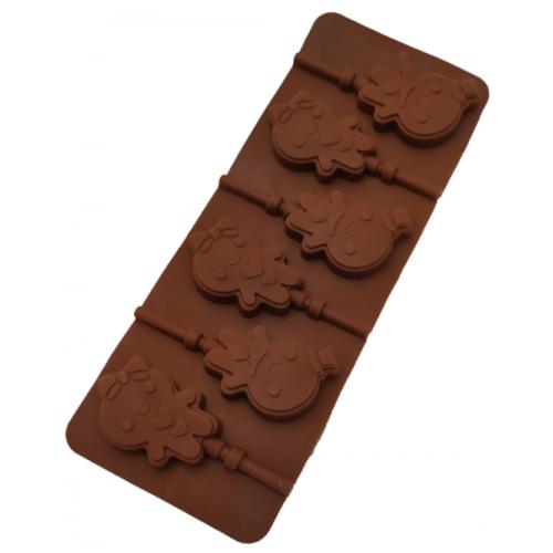 """Силиконовая форма для конфет """"Пряничный человечек"""" арт. 840-622"""