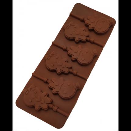"""Силиконовая форма для конфет """"Пряничный человечек"""" арт. 840-622, фото 2"""
