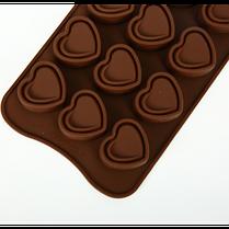"""Силиконовая форма для конфет """"Сердечки"""" YH-417 арт. 822-15A-16, фото 2"""